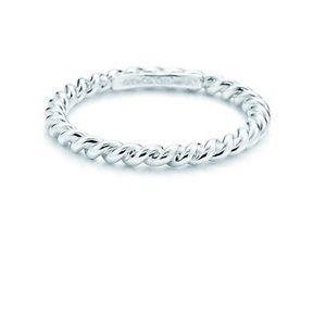 Tiffany an Co silver twist ring size 9